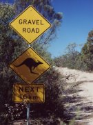Road sign, Outback Australia