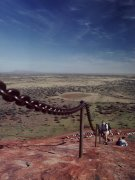 Ayers Rock, on the hard way up